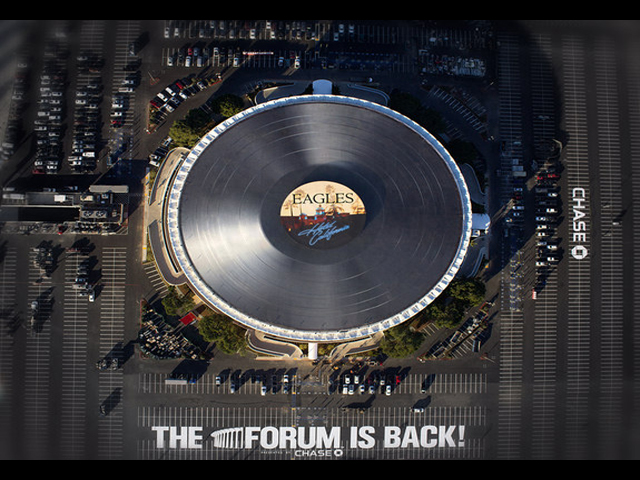 World's Largest Vinyl Record Spins Atop LA Landmark