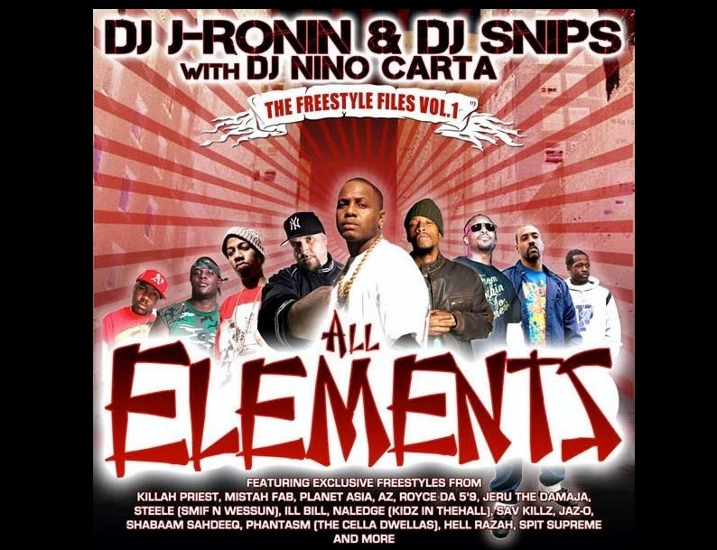 "DJ J-Ronin ""Freestyle Files Vol.1"" (Mixtape) with DJ Snips & DJ Nino Carta"